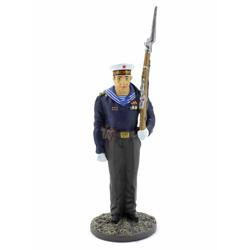 Оловянная миниатюра Матрос гвардейских частей ВМФ в парадной форме для строя