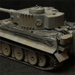 Модель танка Тигр в масштабе 1:35. Производитель: Звезда.
