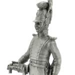 Оловянная миниатюра трубач 2-го шеволежерского полка