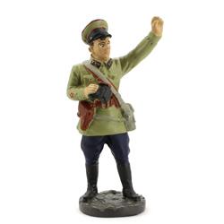 Оловянная миниатюра политработник артиллерийских частей РККА