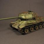 Масштабная модель танка Т-34-85. Автор - Эдуард Валишин.