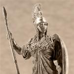 Оловянная миниатюра Богиня Афина