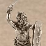 Оловянная миниатюра кельтский воин I-II вв.