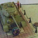 Диорама с масштабной моделью танка Т-34-85. Автор - Илья Чараев