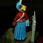 Оловянная миниатюра Маркитантка. Роспись  Тимур Шерзад